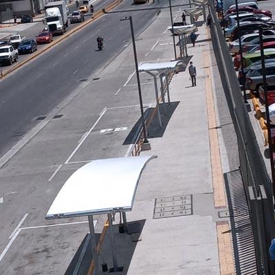 C.C. Plaza Mundo Apopa, Parada de Buses - CUBRE Membrane Architecture