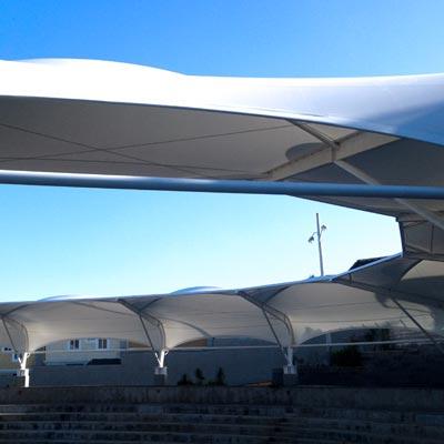 Estadio Quinta Los Encinos - CUBRE Membrane architecture